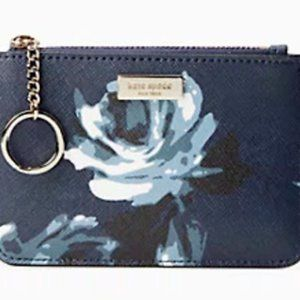 Kate Spade Bitsy Blue Rose Card Case Wallet
